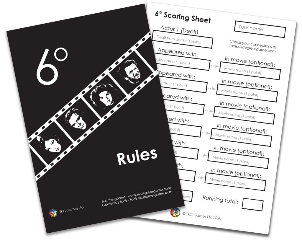 Rules and Scoring Sheet pad